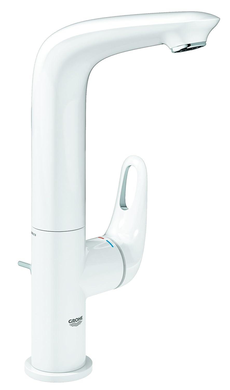 GROHE Eurostyle Einhand-Waschtischbatterie (geschlossener Metallhebel-Griff, Moon White, S-Size) 23707LS3