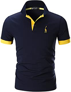 4697983861c64 STTLZMC Men s Polo Shirts Short Sleeve Cotton Tee Button Basic Sports T- Shirts