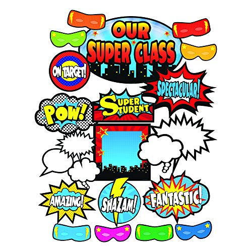 Teacher Created Resources TCR5568 Superhero Bulletin Board Display Set, Paper, Multi