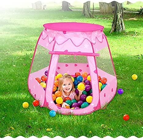 Ball Pit for Toddlers Girls Toys Toys for 1/&2/&3 Year Old Girl Birthday Gift crayline Pop Up Princess Tent with Star Light Easy to Pop Up and Assemble.
