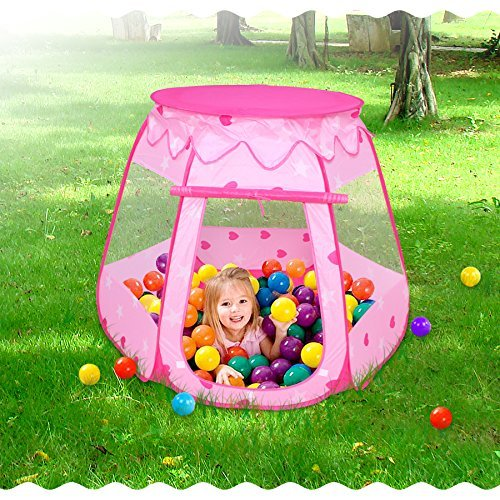 Lepapillon Pink Princess Tent Indoor and Outdoor 1-8 Years O
