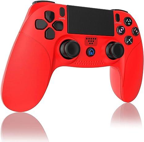 TUTUO Mando para PS4, Inalámbrico Gamepad Wireless Bluetooth Controlador Controller Joystick con Vibración Doble Remoto Compatible con Playstation 4/ PS4 Slim/Pro and PS3: Amazon.es: Electrónica