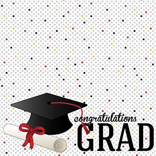 (Graduation Confetti (38782) 12 inch x 12 inch Scrapbook Paper - 1 Sheet)
