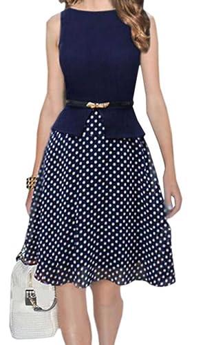 LTYY Women's Big swing Polka Dots sleeveless dress