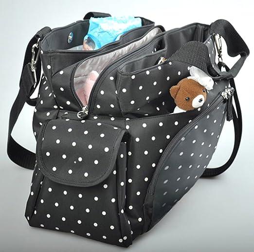 Grande vacances Grand Sac à langer bébé Sac à langer sac à langer 3 pièces  - Noir  Amazon.fr  Bébés   Puériculture 40a749a02633