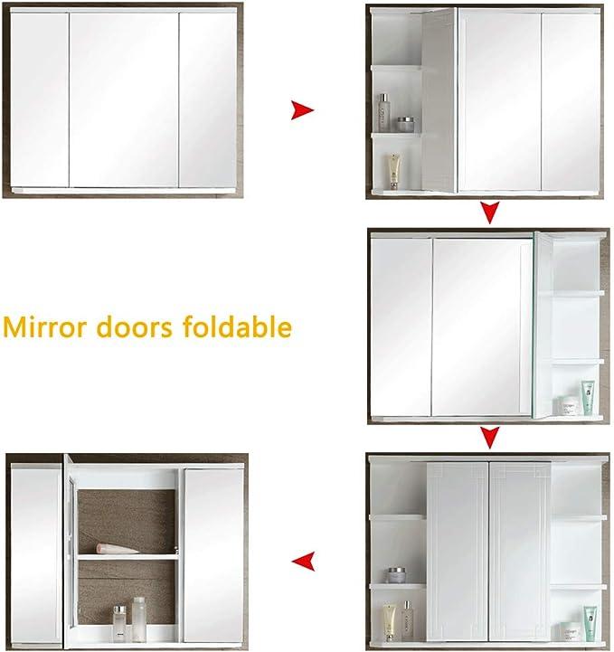 Creative LDF Armario De Espejo Para Baño, Puerta De Espejo ...