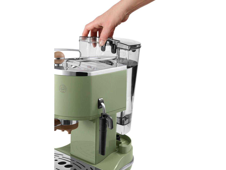 Wassertank abnehmbar der Espresso Siebträgermaschine bis 200 Euro De'Longhi ECOV 311 Icona Vintage