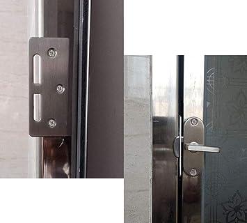 YUM 90 grados flip acero inoxidable puerta corredera cerradura pestillo cerradura leva hebilla curvada: Amazon.es: Bricolaje y herramientas