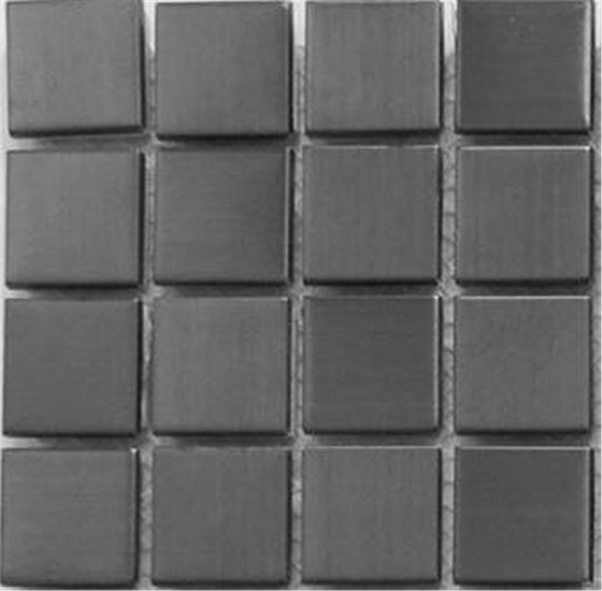10x10cm Sample Stainless Steel Brushed Black Metal Mosaic Tiles Sheet MT0038 Grand Taps