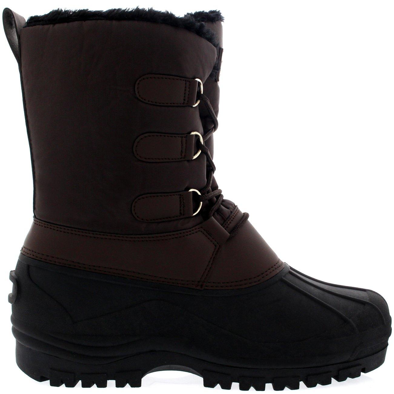 Hombre Cordones Corto Nylon Invierno Nieve Lluvia Cordones Pato Botas: Amazon.es: Zapatos y complementos