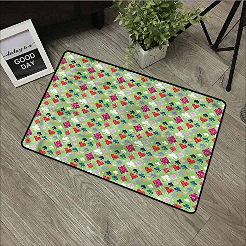 Casino,Door mats for Home entranceVibrant Colored Figures Game Perfect for Outdoor/Indoor uses,W39xH20 inch