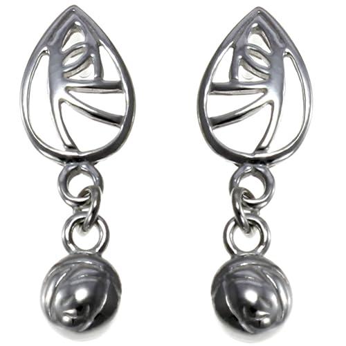 Señoras brazalete Rennie Mackintosh estilo de par de plata esterlina 925