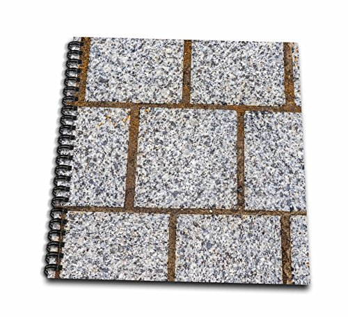 (3dRose Alexis Photography - Texture Stone - Image of Three Rows of Polished Granite Stone Blocks of Grey Color - Drawing Book 8 x 8 inch (db_285821_1))