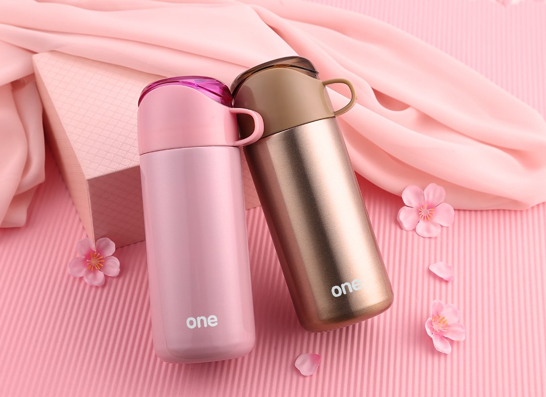JIAQI Stainless Steel Water Bottle with Lid as a cup Double Wall Vacuum Insulated 16Oz 380ml Travel Mug,Coffee Mug BPA Free for Office Car Home Leisure-Flask Perfect for Cycling,Gym,Gifts Green