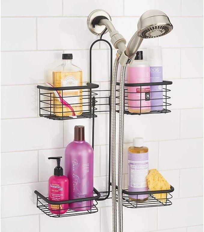 mDesign Estante para ducha colgante – Organizador de ducha con 4 ...