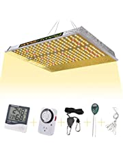 MARS HYDRO Dimmable TS 1000W LED Grow Lights for Indoor Plants Sunlight Spectrum with IR 3x3ft Veg and 2.5x2.5ft Flower Higher Yield Energy Efficient Plant Growing Lamps Silent Fanless Design