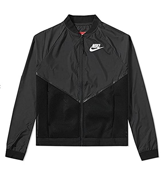 87b214df515b Image Unavailable. Image not available for. Colour  Nike Women s Tech Hyper Mesh  Bomber Jacket (725850-010) Black