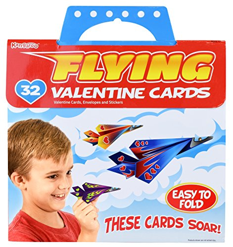 kangaroos-flying-paper-airplanes-32-count-valentines-day-cards-for-kids