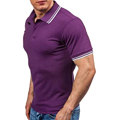 14c09276 Clothing HARRYSTORE Men's Polo Shirts Casual Short Sleeve Tennis Golf  Classic Polo T-Shirts (