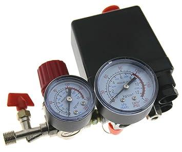Nueva 90 – 120 PSI regulador de aire compresor presión interruptor de control Indicadores de socorro