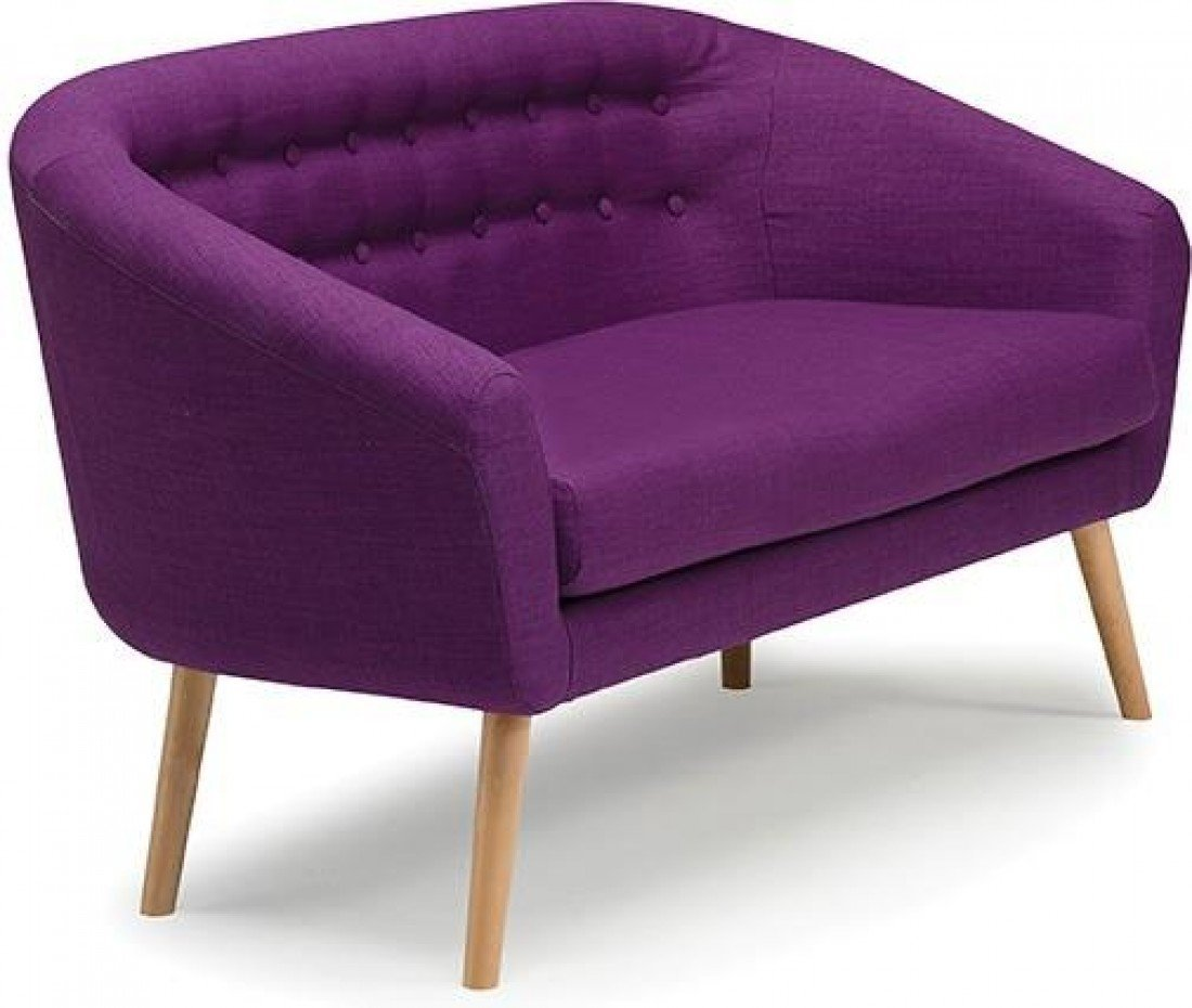 Molly 2 Seater Deep Seat Cushion Sofa Couch Settee Purple | Fabric ...
