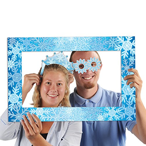 Beistle 20092 Snowflakes Photo Fun Frame, 15.5
