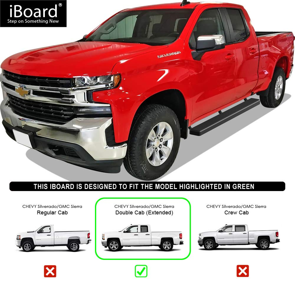 Nerf Bars Side Steps Side Bars Exclude 19 1500 LD APS iBoard Running Boards 5 inches Matte Black Custom Fit 2019-2020 Chevy Silverado GMC Sierra 1500 Double Cab Extended Cab