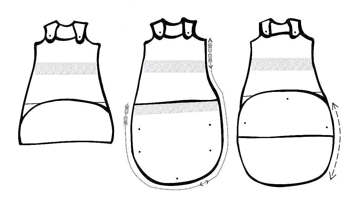 C 100/% COTONE Alta qualità UE senza sostanze nocive Vizaro 3,5Tog INVERNO OekoTex Barchetta:  Prima infanzia SACCO A PELO ESTENSIBILE 4-36 mesi PRIMAVERA
