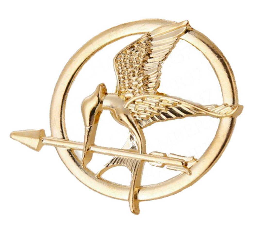 The hunger games katniss mockingjay pin badge brooch bird tribute the hunger games katniss mockingjay pin badge brooch bird tribute token golden from buyagain2 pieces amazon kitchen home biocorpaavc Choice Image