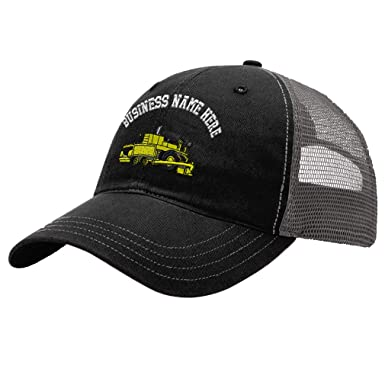 Custom Trucker Hat Richardson Paver Embroidery Business Name Cotton