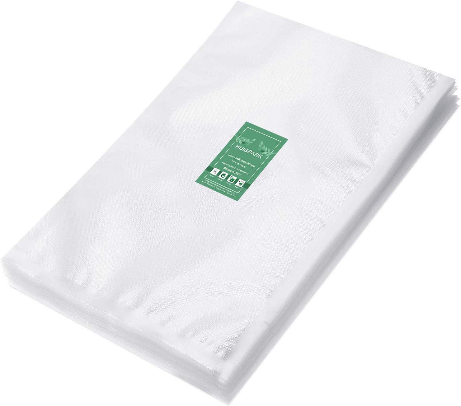 11×16 Inch Vacuum Sealer Bags,Pre-Cut Design Bags for Vacuum Sealer Heat Seal Bag Boilsafe Freezable Resizable (50PCS)