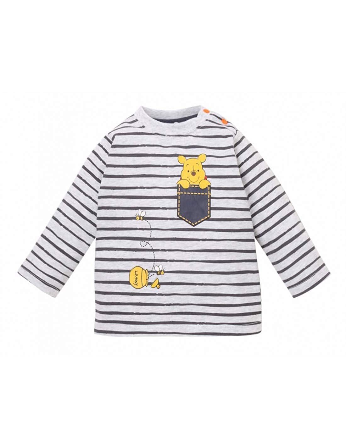 Winnie l'ourson Baby Boys' Long Sleeve Tee Winnie L' ourson TSML-B-WIN-SO5683-1050M