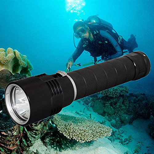 Whaitfire LED Scuba Diving Light, 100M Uderwater IPX8 Waterproof Diving Torch (for Outdoor Underwater Sports) with Super Bright 3000 Lumens 3x MX-L2 LED, Lanyard - Mx Lanyard