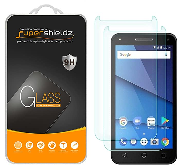 [2-Pack] Supershieldz for BLU Dash L5 LTE Tempered Glass Screen Protector, Anti-Scratch, Bubble Free, Lifetime Replacement