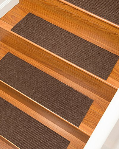 Naturalarearugs halton polyester carpet stair treads for Durable carpet for stairs