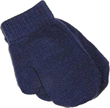 Baby Toddler Magic Mittens Assorted Colours Soft Stretchy navy.