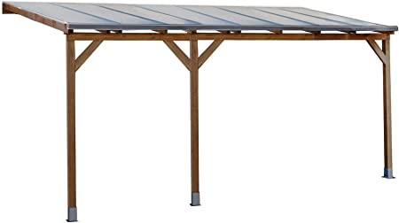 Palram Juniper 3x5 - Cubierta de Madera para terraza, Color marrón ...