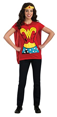 434841538fb UHC Women s Dc Comics Sexy Wonderwoman T-shirt Halloween Themed Fancy  Costume