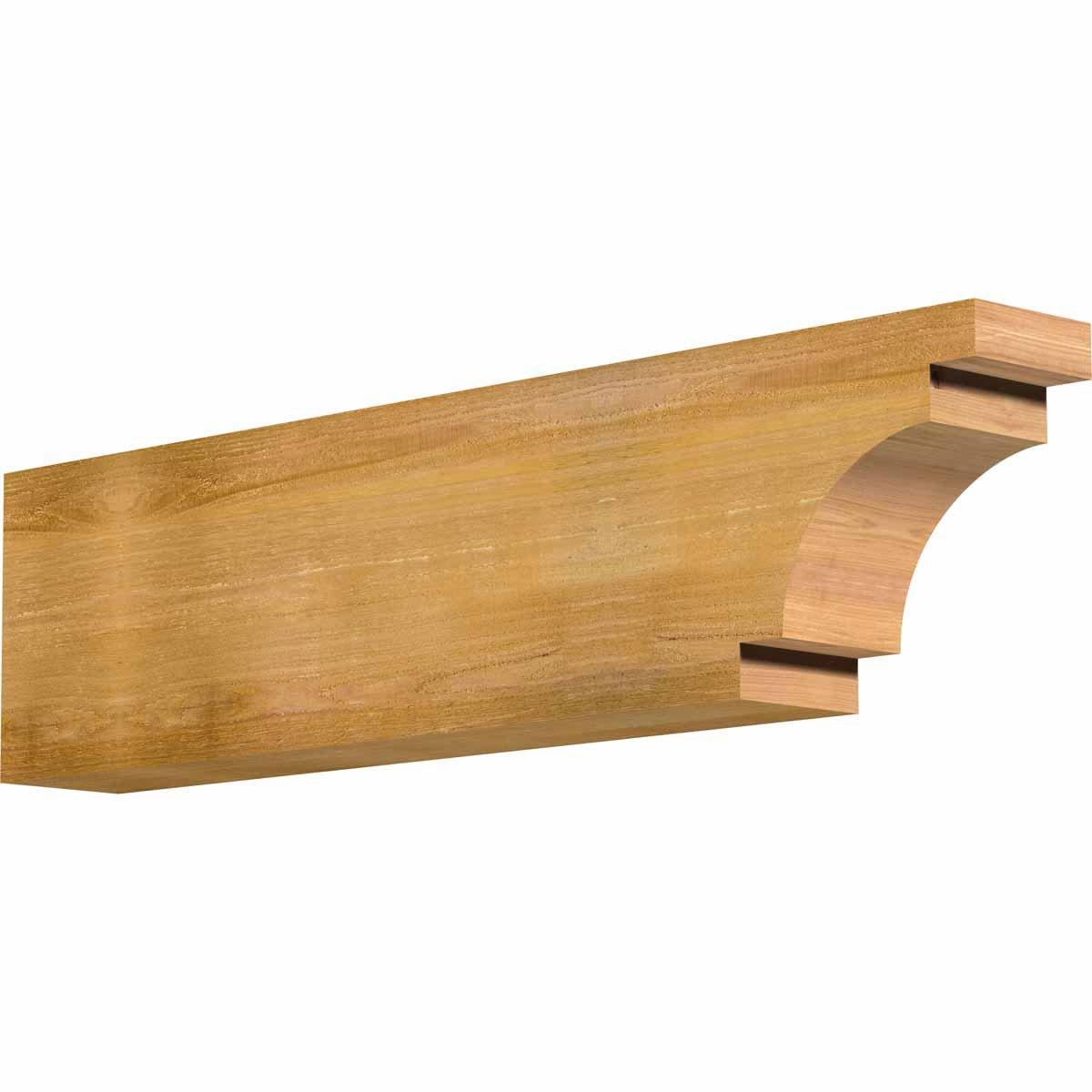 Ekena Millwork RFT06X12X48MED00RWR Mediterranean Rough Sawn Rafter Tail, 6'' Width by 12'' Height by 48'' Length, Western Red Cedar