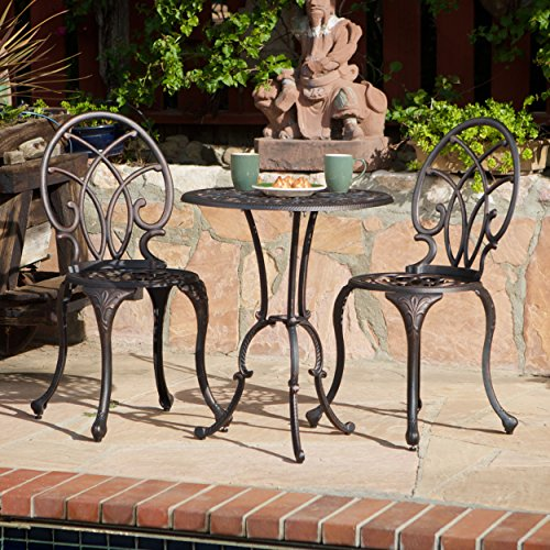 3-piece Bistro Set with 2 Chairs and a Table. Cast Alumin...
