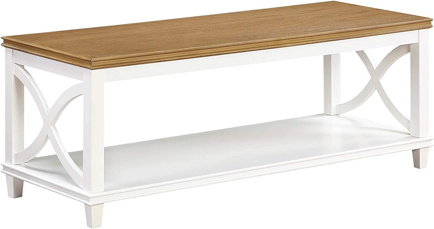 Convenience Concepts Florence Coffee Table, Driftwood/White