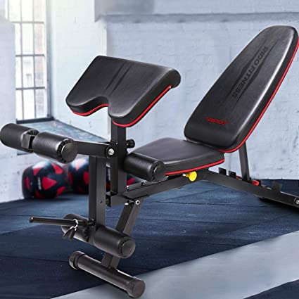 Amazon.com: Folding Weight Table Dumbbell Bench Supine Board Fitness Chair Home Multi-Function Bench Press Abdomen Board Bird Stool Benches (Color : Black, ...