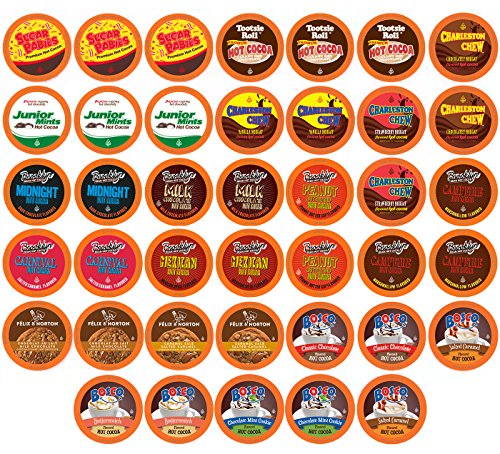 Two Rivers Sampler Pack Single Keurig Cup Brewers, Hot Cocoa, 100 Count