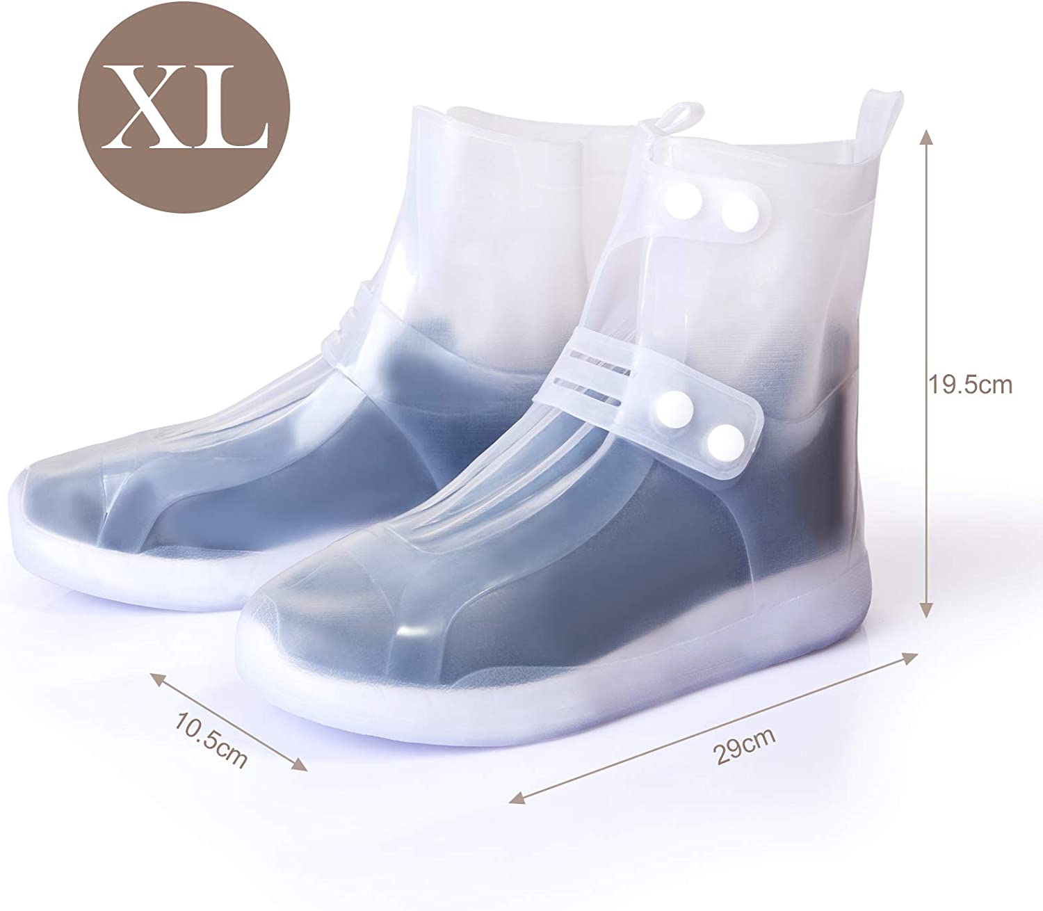 GWHOLE Rain Shoes Cover Silicone Overshoes Waterproof for Men and Women