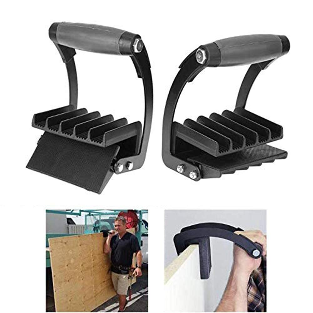NOBLJX 2Pcs Panel Carrier, Heavy Duty Metal Drywall and Plywood Gripper, Wood Panel Carrier Furniture Lifter, Self Adjusts to Thickness, Easy to Solo Lift and Carry
