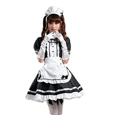 Amazon.com  AvaCostume Women s Anime Cosplay French Apron Maid Fancy ... b16f682f37