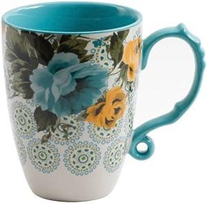 The Pioneer Woman Rose Shadow 24-Ounce Floral Jumbo Latte Mug