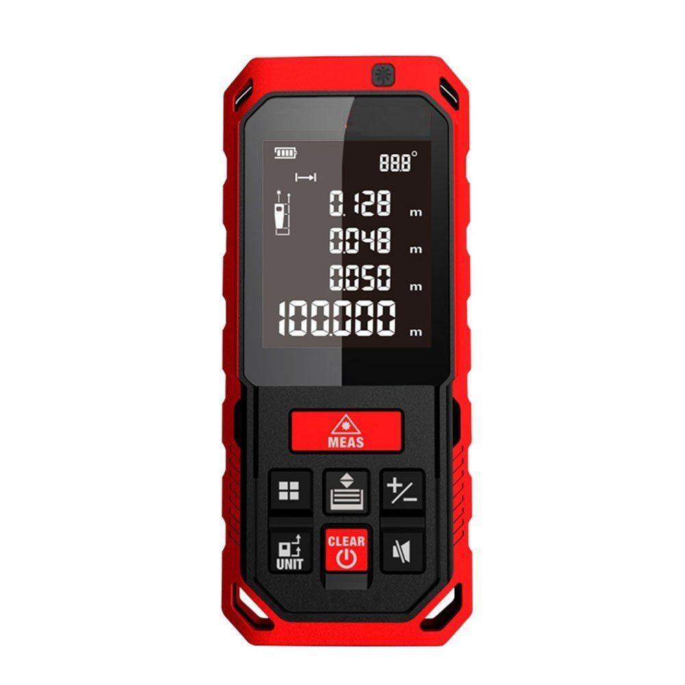 Perfect-Prime RF0760, Laser Distance Digital Range Finder Diastimeter Measuring Device Electronic Bubble Levels 198ft/60m, IP65 Water & Dust proof