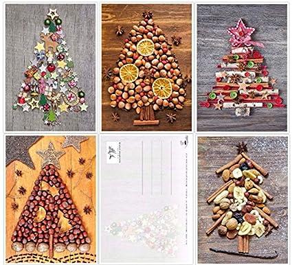 Immagini Di Cartoline Natalizie.Set Di 50 Cartoline Di Natale Nostalgici Stile Retro Vintage Di Edition Colibri 10828 10832
