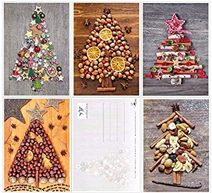 Set Di 50 Cartoline Di Natale Nostalgici Stile Retrò